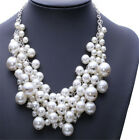 Wedding Huge Pearl Beads Cluster Collar Chunky Chain Choker Necklace JEWELRY