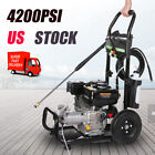 4200PSI 3.0GPM Gas Pressure Washer Cold Water Cleaner High Power Machine Kit