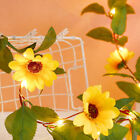30 LED String Fairy Light With Sunflower Vine For Wedding Home Garden Xmas Decor
