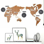 1.3M Modern Style DIY 3D World Map Large Size Wall Clock for Living Room Bedroom