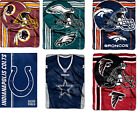 "NFL Teams Touchback Design Blanket Royal Plush Raschel Fleece Throw 50"" x 60"" $39.99 USD on eBay"