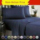"Hotel Luxury 1800 Count 4 6 Piece Bed Sheet Set 14"" Deep Pocket Hypoallergenic image"