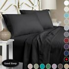 "100% Egyptian Comfort 1800 Thread Count 4 6 Piece Bed Sheet Set 14"" Deep Pocket image"