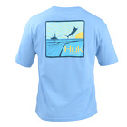 Save 50% HUK FISHING YOUTH BARRELS PATCH MARLIN FISHING TEE-Pick Color/Size