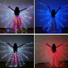 Kids Adults Fairy Butterfly LED Belly Dance Wings Light Up Isis Wings Costumes