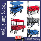 Collapsible Folding Wagon Cart Tolley Hand Pull Cart Garden Transport Cart BBQ