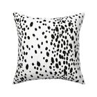 Black And White Mod Dots Animal Throw Pillow Cover w Optional Insert by Roostery