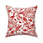 Chinoiserie Bird Garden Animal Throw Pillow Cover w Optional Insert by Roostery