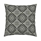 Shakami Black Custom By The Throw Pillow Cover w Optional Insert by Roostery