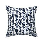 Indigo Watercolor Sage Summer Throw Pillow Cover w Optional Insert by Roostery