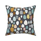 Eggs (Charcoal) Baby Rustic Egg Throw Pillow Cover w Optional Insert by Roostery