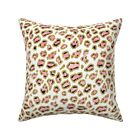 Pink And Gold Leopard Animal Throw Pillow Cover w Optional Insert by Roostery