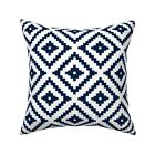 Aztec Little Arrow Designs Navy Throw Pillow Cover w Optional Insert by Roostery