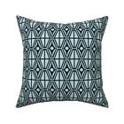Geometric Abstract Diamond Throw Pillow Cover w Optional Insert by Roostery