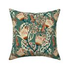 Floral Botanical Foliage Throw Pillow Cover w Optional Insert by Roostery