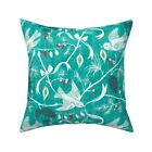 Chinoiserie Christmas Holiday Throw Pillow Cover w Optional Insert by Roostery
