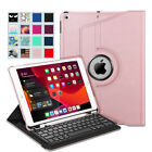 360 Degree Rotating Keyboard Case with Pencil Holder for iPad 7th Gen 10.2