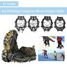 19 Teeths Ice Snow Crampons Anti-slip Climbing Gripper Shoe Covers Spike Cleats