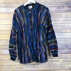 Vintage Purely Australian Colorful Sweater Size M FLAWS
