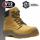 V12 Puma Lightweight Safety Work Boots Tan Honey Men's Shoes IGS (Sizes 7-12)
