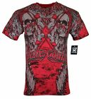 XTREME COUTURE by AFFLICTION Men T Shirt SPARE Tattoo Biker Red MMA S 4X 40