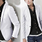 Mens Formal Suit One Button Blazer Office Business Career Coats Jacket Outwear