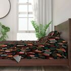 Earth Tones Feathers Native American 100% Cotton Sateen Sheet Set by Roostery image