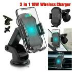 Qi Car Wireless Auto Charger Fast Charging Mount Clamping Holder N4O8 Phone X4V4