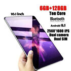 "New 10.1"" Sim Camera  6+128gb Wifi Bluetooth Hd Touch Screen Android 8.1tablet"