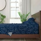 Distressed Stars American 4Th Of July 100% Cotton Sateen Sheet Set by Roostery image