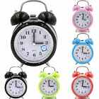 Analog Alarm Clock Retro Classic Bedroom Bedside Quartz Battery Operated Loud