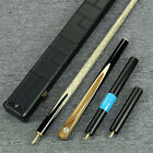 """Grand-Cues"" 58"" 3/4 Ash Shaft Teak Wood+Ebony Handmade Snooker Cue Set@GH02"