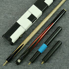 "60""- ""Grand"" - 3/4 Jointed Ash Shaft Black Ebony Handmade Snooker Cue Set@YP61"