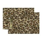Cloth Placemats Leopard Printed Animal Cheetah Costume Set of 2