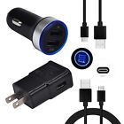 For Moto G7 G6 Plus Play Power HTC Bolt U11 Phone Charger Car Wall Plug USB Wire