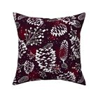 Festive Forest Christmas Pine Throw Pillow Cover w Optional Insert by Roostery