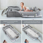 Portable Baby Grey Crib Lounger Nest Bassinet Travel Bed Sleeping Infants 0-2y