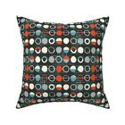 Mod Dots And Dashes Mid Century Throw Pillow Cover w Optional Insert by Roostery