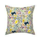 Woodland Swedish Folk Art Throw Pillow Cover w Optional Insert by Roostery