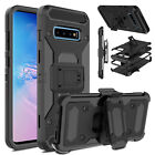 For Samsung Galaxy S10 Plus/S8+/S8 Active Case Belt Clip Holster With Kickstand