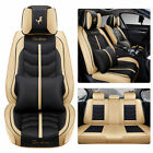 14pc Interior Leather Car Seat Cover Waterproof 5-Seats Truck Full Set Prot...