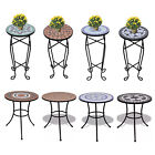 Mosaic Plant Stand Flower Side Table Cafe Table Decor Patio Garden Room Balcony