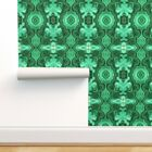 Wallpaper Roll Emerald Malachite Abstract Green Gemstone Nature 24in x 27ft