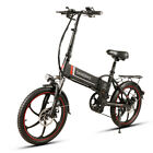 Samebike 20 Inch Folding Electric Bike Power Assist Electric Bicycle E-Bike Q9E7
