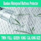 Mattress Protector Waterproof Bamboo Soft Hypoallergenic Encasement Pad Cover image