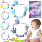 Boy Girl Dummy Clip Baby Soother Clips Chain Holder Pacifier Strap Silicone Bead