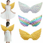 Kids Unisex Glossy Metallic Angel Wings for Cosplay Party Costume Fancy Dress