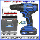 21-Volt drill 2 Speed Electric Cordless Drill / Driver with Bits Set