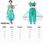 Aladdin Cosplay Costume Fancy Dress Princess Jasmine Child Girls Halloween Kids