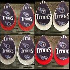 Tennessee Titans Faux Leather Earrings $10.0 USD on eBay